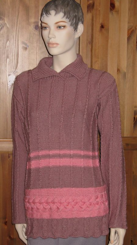 Пуловер С Поперечными Косами Доставка